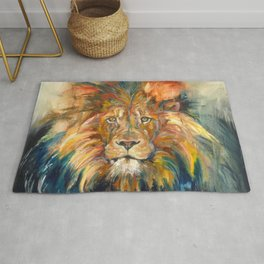 Lion Oil Painting Rug