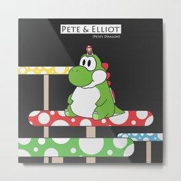 Pete & Elliot (Pete's Dragon) (dark background edition) Metal Print