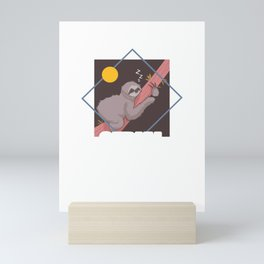 Cute & Funny Sloth Serial Chiller Lazy Slothing Mini Art Print