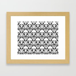 Abstract seamless black and grey ornament Framed Art Print