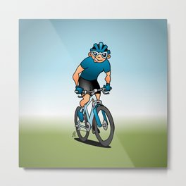 MTB - Mountain biker in the mountains Metal Print
