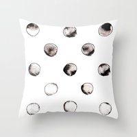 circles Throw Pillows featuring CIRCLES by LEEMO