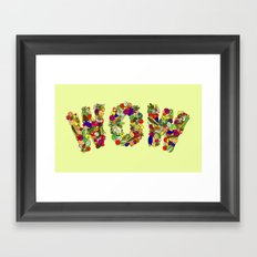 Vegan WOW Framed Art Print