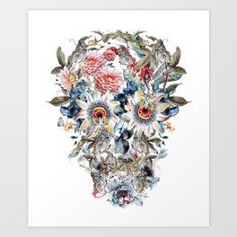 SKULL FLORAL Art Print