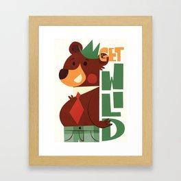 Get wild! Framed Art Print