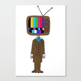 TV Head Canvas Print