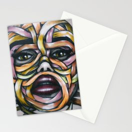 Ribbon Girl Graffiti Wall Art Stationery Cards