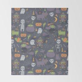 Cute Happy Halloween Throw Blanket