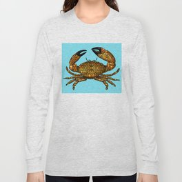 Stone Rock'd Stone Crab By Sharon Cummings Long Sleeve T-shirt