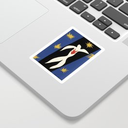 Henri Matisse The fall of Icarus (La Chute d'Icare) from Jazz Collection, 1947, Artwork, Men, Women, Sticker