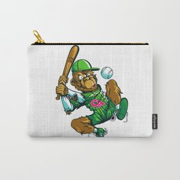 Baseball Monkey - Lime Carry-All Pouch