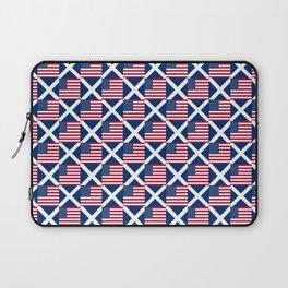 Mix of flag: usa and scotland Laptop Sleeve