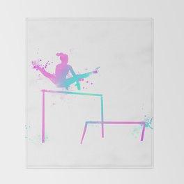 Gymnast - Bars Throw Blanket