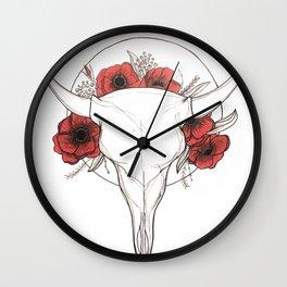 Wild Peony Wall Clock