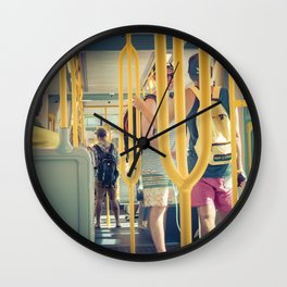 Light Rail Passengers Wall Clock