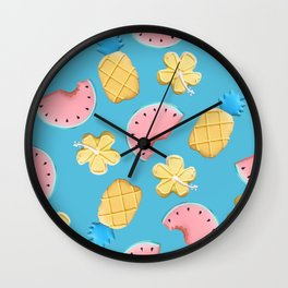 Tropikal pattern Wall Clock