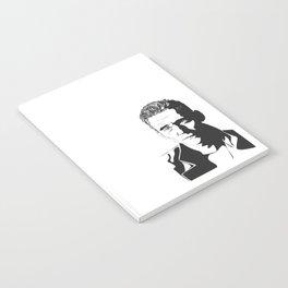 Black & White Portrait of Tom Hiddleston Notebook