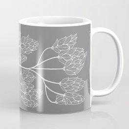 Leaf-like Sumac in Grey Coffee Mug