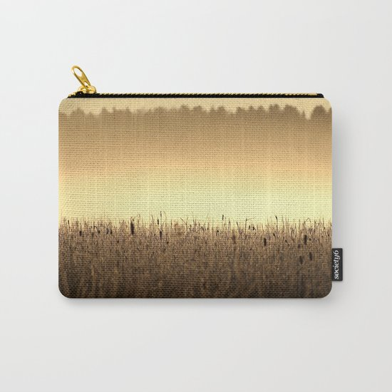 Bed Of Reeds In Golden Hour Carry-All Pouch