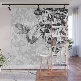 Hummingbird and fuchsia Wall Mural