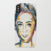 miley iPhone & iPod Cases featuring Miley Cyrus by caffeboy