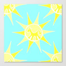 Unicorn Sun Canvas Print