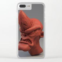 Cobold creature sculpt (red material) Clear iPhone Case