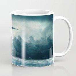 Blue Ocean Ship Storm Clouds Coffee Mug
