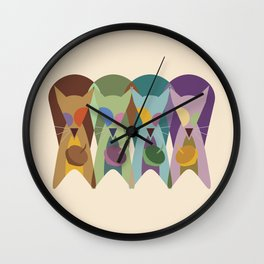 Cracked Out Squirrels Wall Clock