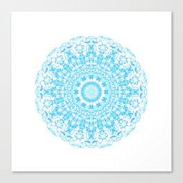 Mandala 12 / 2 eden spirit light blue turquoise Canvas Print
