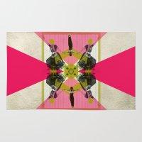 gym Area & Throw Rugs featuring Bollywood geometrical gym by AmDuf