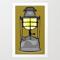 lantern Art Prints featuring Lantern by mailboxdisco
