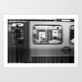 Moving London Underground Art Print