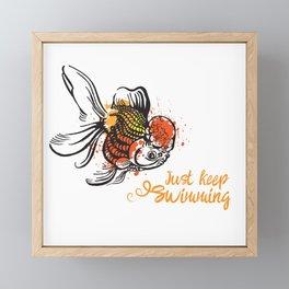 Just Keep Swimming Framed Mini Art Print