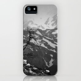 Lonely tree with stunning view on mountains iPhone Case