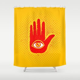 Hand and eye Shower Curtain