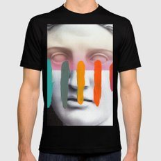 Composition on Panel 2 MEDIUM Black Mens Fitted Tee