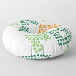 I love ireland (irish eyes are smiling they steal your heart) Floor Pillow
