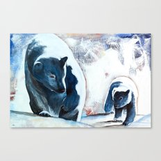 Bears - Don't be afraid, I'll show you the way... Canvas Print