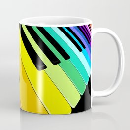 Piano Keyboard Rainbow Colors  Coffee Mug