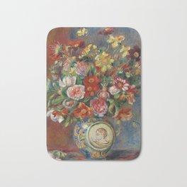 """Pierre-Auguste Renoir """"Vase de fleurs"""" Bath Mat"""