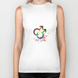 Gay love romantic cosmic word design, lesbian, gender bender, love wins, transexual Biker Tank