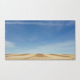Alberta Farm Rows Canvas Print