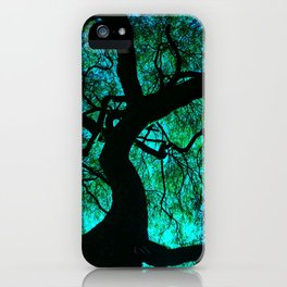 Under The Tree Blue and Green iPhone Case