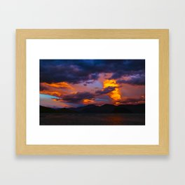 Lake Wanaka Sunset Framed Art Print