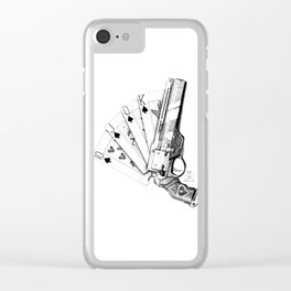 The Ace of Spades Clear iPhone Case