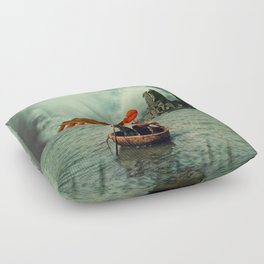 We Are All Fishermen Floor Pillow