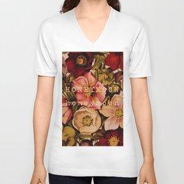 Honeymoon Floral Unisex V-Neck