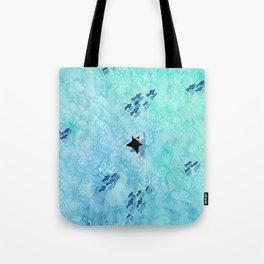 Ninja splashes in Sardinia Tote Bag