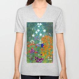 Gustav Klimt Flower Garden Unisex V-Neck